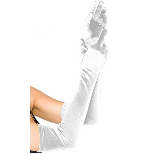 Fat Mashroom Brauthandschuhe DamenLong Party Bridal Dance Handschuhe Opera Weiß/Schwarz/Weiß Finger Brauthandschuhe Satin Guantes Boda Blancos, Rot -
