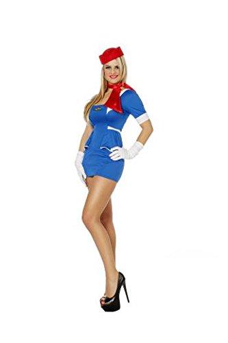 Dreamliner laufend Damen Kostüm für Erwachsene: Stewardess (UK 16/18), EU44 US12 (DE)