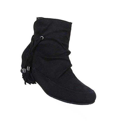 Senhoras Botas Stiefeletten Sapatos Zipper Preto Cinzento Azulado Vermelho 36 37 38 39 40 41