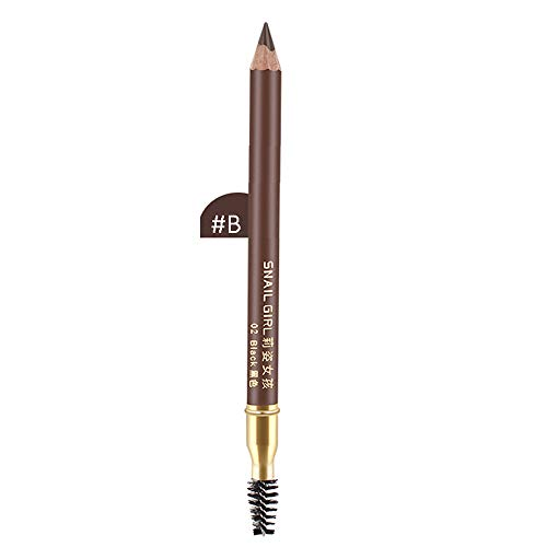 Cooljun 2 en 1 Precision longue duree imperméable à l'eau sourcil doublure double crayon avec brosses à sourcils outils (B)