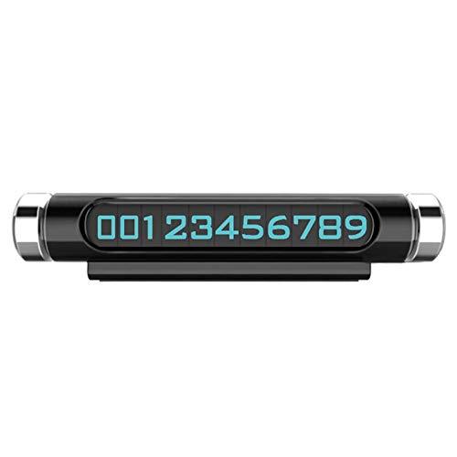 Auto flexibel drehbare temporäre Parkkarte Telefon Telefonnummer klare Platte Automobil Auto Styling leuchtende Nachtlicht