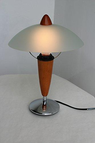 -lampe-de-table-contemporain-maison-en-bois-massif-aspect-cerisier-avec-chrome-abat-jour-dome-en-ver