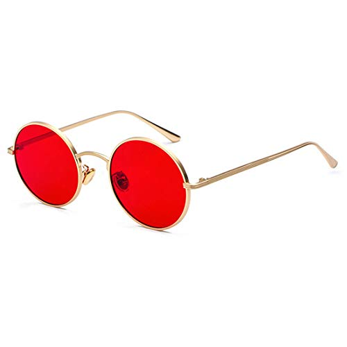 Inlefen Gafas de sol Hombres Mujeres Redondo Vintage Círculo estilo Gafas  de sol Gafas de marco 7348f1e0f060