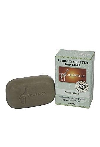 Pura Shea Butter Jabon, arcilla verde de 4 onzas (120 g) - Memorias de África