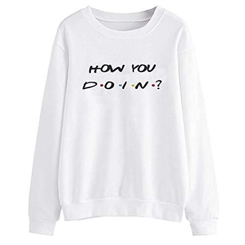 MEIbax Damen Crop Sweatshirt Langarm Shirt Frauen Buchstabe Druck Pullover Hoodie Oberteile Bluse Sweatjacke