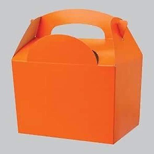 Partygeschirr/Einweggeschirr, Motiv Kürbis, Orange 10 Party Food Boxes.