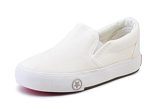 Crianças Saltar Simples Deslizamento Jovem Em Estrelas Sola De Borracha Anti-derrapante Sneakers Branco Planas