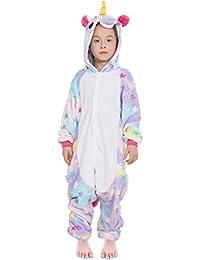 Pijamas Entero Ropa de Dormir Disfraz de Animal Kigurumi Unicorn Cosplay Halloween Traje de Disfraz para