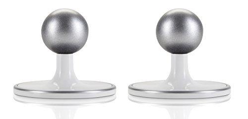 2 Pack - Wand/Decken/Tischhalterung für Arlo HD & Arlo Pro Kamerasystem, schwarz/silber von Dropcessories (Weiß)