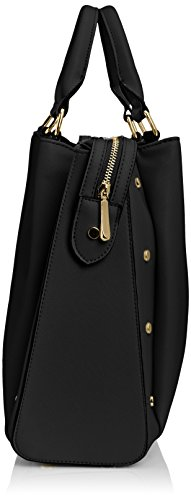 Swankyswans Michelle Pu Leather Work Shopper Schwarz (Schwarz)