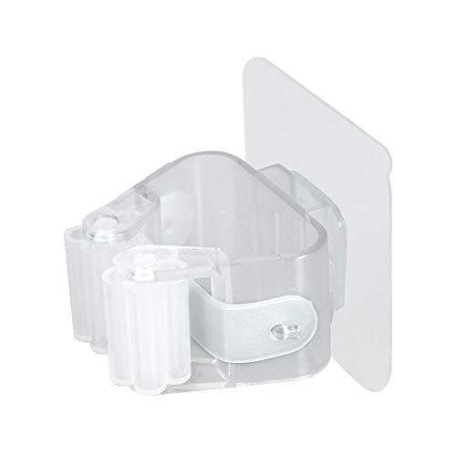 CAheadY Nicht durchschlagender klebender Wand-Mopp-Halter-Besen-Aufhänger-Haken-Badezimmer-Organisator Transparent