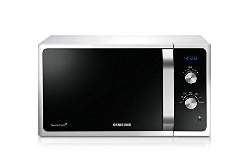 Samsung MS23F301EAW Encimera 23L 800W Negro, Color blanco – Microondas (Encimera, 23 L, 800 W, Giratorio, Negro, Blanco, Retirable)