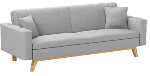 Novohogar Elegante sofá Cama 3 plazas Malmö Confortable y Fácil de Abrir...