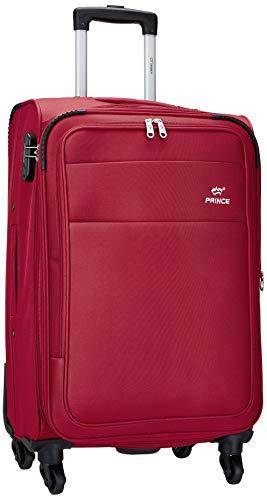 Princeware Bonn Polyester 58 cms Red Softsided Cabin Luggage (6732 -RD)