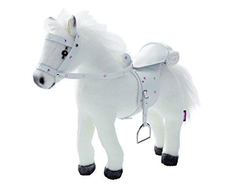 Preisvergleich Produktbild Götz 3401485 Weißer Blitz - biegsames Plüschpferd mit Soundchip für Stehpuppen - für Kinder ab 3 Jahren