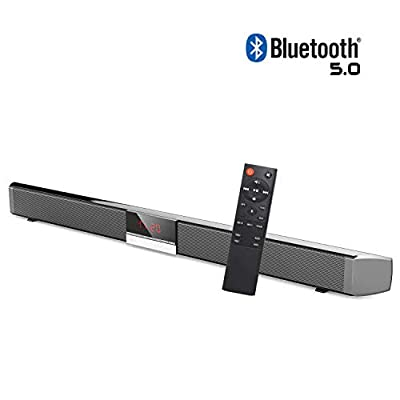 HYASIA Sound Bars for TV, Soundbar with Built-In Subwoofer Surround Sound, Soundbar with Wireless 5.0 Bluetooth Home Theater System, Surround Sound Bar for TV, PC, Cellphone. RCA Cable Included from shenzhenshisuofeierdianzishangwuyouxiangongsi