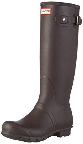 Hunter WOMENS ORG TALL, Damen Gummistiefel, Braun (Bitter Chocolate), 39 EU (Chocolate Rain Stiefel)