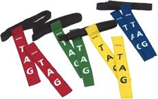 Carta Sports Rugby Sports Tag Belt, One Size, Various Colours - Green by Carta Sport
