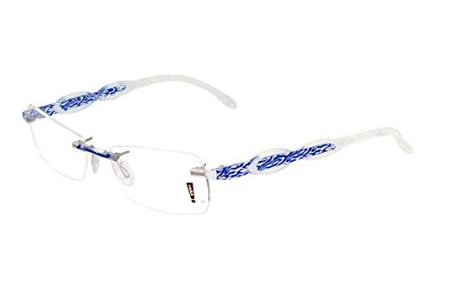 switch it Garnitur Combi 2311 Wechselbügel Montur in der Farbe transparent-blau, Ellipse groß