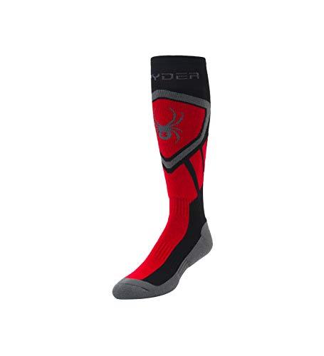 Spyder Herren Dare Socken, Black/Red/Polar, L