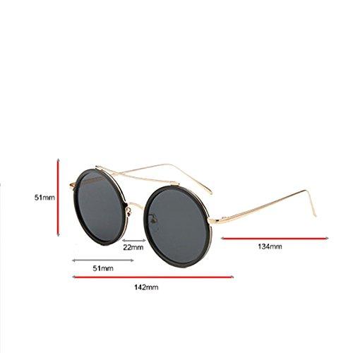 Unisex Abbagliamento UV Circolari Lenti Polarizzate Occhiali Da Sole Lenti Blue