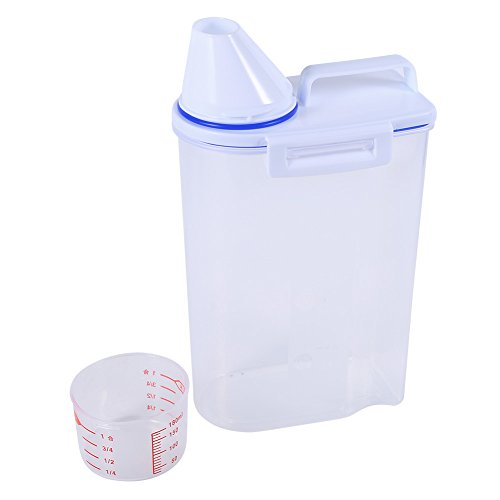 Pet Food Container Hund Katze Vorratsdosen Set Trockenfutter Spender Easy Pour mit Cup Pet Supplies Cup Container