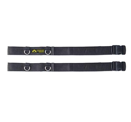 Suspension-Schlingentrainer mit Türanker für Ganzkörpertraining - Mit Crossover Kabeln Schulterwiderstandsbändern kompatibel - Ein Paar