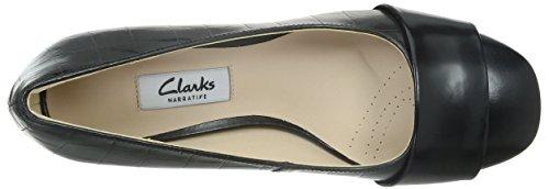 Clarks Chinaberry Sky, Chaussures de ville femme Noir (Black Combi Lea)