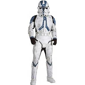 Star Wars Clonetrooper deluxe Overall Maske Kinder Karneval Kostüm - Clonetrooper Kind Kostüm