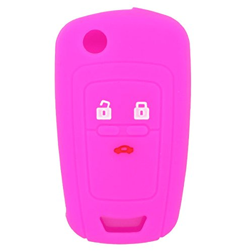 fassport-silicone-cover-skin-jacket-for-chevrolet-3-button-flip-remote-key-cv9650-rose