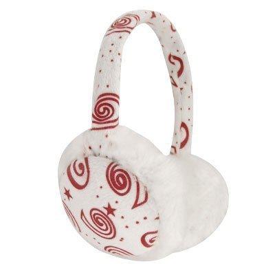sourcingmap® Mädchen Plush Beschichtet Rahmen Weiß Falsch Pelz Ohr Pad Ohrschützer - Mädchen, Weiß Rot, Einheitsgröße