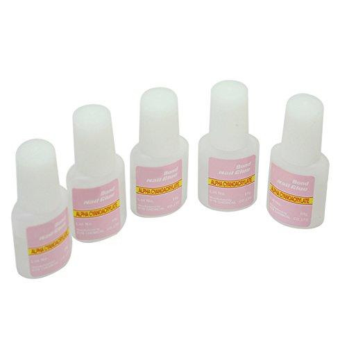 styleinside® 5 pieces 10g Colle Ongle Glue Capsule Décor Manucure Nail Art avec Pinceau