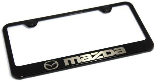 Preisvergleich Produktbild BIN SHANG Mazda 3 5 6 Logo-Plattenrahmen,  Metall,  Schwarz RX-8 RX-7