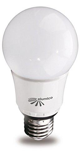 LED Birne (Glühbirnen Ersatz) 6.8W, warm- weiß (2700K), Farbe: weiß, Linse: Milchglas, Fassung: E27, Lm: 540Lm, CE/ RoHs, 2 Jahre Garantie - Milchglas Led Birne