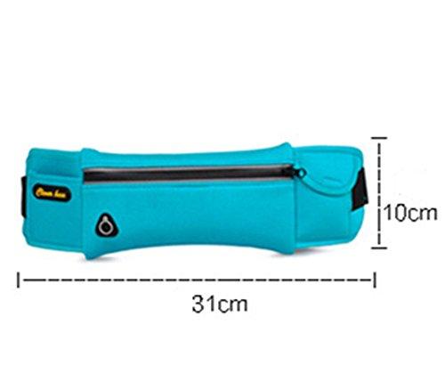5 All Sling-Rucksack Sling Bag Chest Pack Taschen HANDY Tasche Outdoor Sports Camouflage Trekkingrucksack als Radfahr Jogging-Rucksack Kettle Paket Blau A2