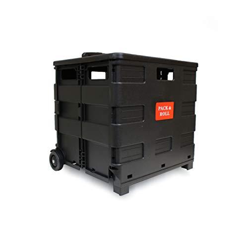 LANZZAS Einkaufstrolley Einkaufskorb Einkaufwagen Trolley Korb mit Rollen mit Deckel faltbar klappbar bis 35kg