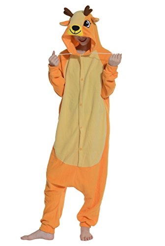 Pyjamas-Renne-Femme-Adulte-Cosplay-Hiver-Kigurumi-Unisexe-Dguis-Halloween-Fte-Outfit-Nuit-Vtements