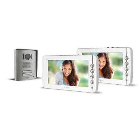 Preisvergleich Produktbild Extel–Pack Videotelefon Farbe Freisprecheinrichtung 4Fäden–EXTEL Livia + Monitor