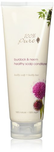 100% Pure vegane Naturkosmetik Burdock & Neem Healthy Scalp Conditioner, Net wt. 8 fl oz / 236 ml