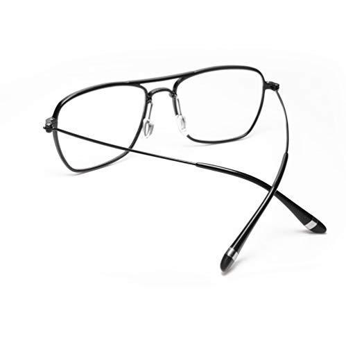 Delilya Klassische verspiegelte Flache Linse Sonnenbrille Metallrahmen mit Federscharnieren,Black