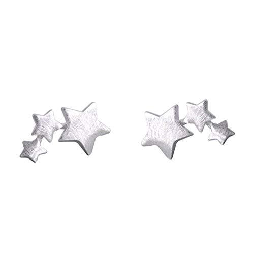 Oído Mujeres Niñas S925 estrella pendiente perno