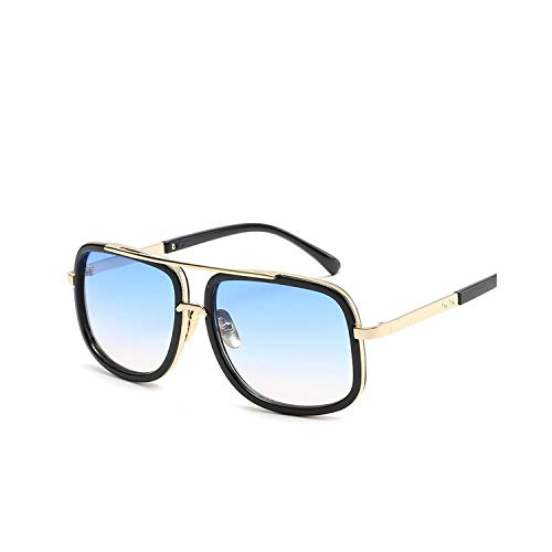 Sportbrillen, Angeln Golfbrille,NEW Fashion Big Frame Sunglasses Men Square Fashion Glasses For Women High Quality Retro Sun Glasses Vintage Gafas Oculos 3-Black-GradientBlue