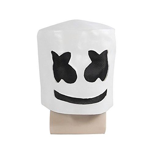 AimdonR Halloween Masken,NTop 10 DJs Wear Masken, Musik Festival Helme, Neuheit Kostüm Party Maske, Latex Ultra Cool Vollkopfmaske (Musik Künstler Kostüm)