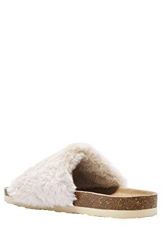 next Donna Pantofole In Pelliccia Sintetica Crema