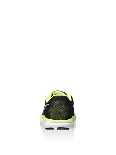 Nike Unisex-Kinder Flex 2016 Rn Gs Laufschuhe Black (Black (schwarz / silber-metallic-Volt-weiß))
