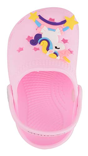 Yellow Bee Unicorn Clogs for Girls, Light Pink, 2C, 6-9 Months