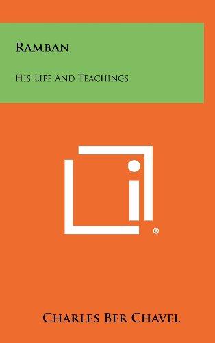 Ramban: His Life and Teachings por Charles Ber Chavel