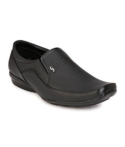 Imcolus Men's Black Synthetic Derby Shoes - 8 UK