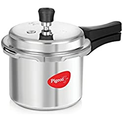 Pigeon Favourite Outer Lid Aluminium Pressure Cooker, 3 Litres, Silver (Non Induction)