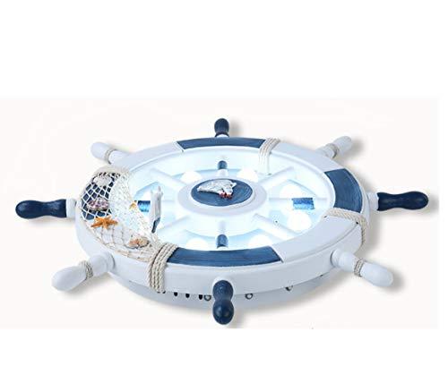 an Pirat Ruder Deckenleuchte Kaltweiß Kinderleuchte Kinderzimmerlampe Mit Led Lampe Für Kinder Kinderzimmer Babyzimmer Modern Baby Deckenlampe Schlafzimmer Babylampe (Weiß, 45CM) ()